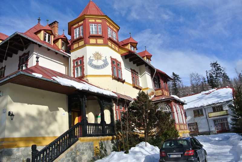 Tatranská Lomnica-vila Liptay, vstup