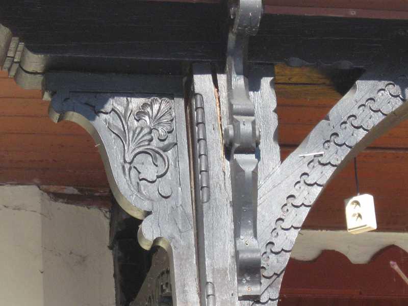 Tatranská Lomnica-vila Liptay, detail zábradlia